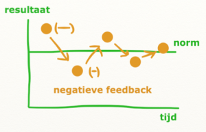 negatieve feedback richting de norm